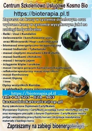 Kurs Reiki Usui i Kundalini czakroterapii Biomasażu świecowania uszu Terapii jajem masaż i terapia Ojca Klumuszko Masażu i terapii dźwiękiem mis tybetańskich masaż stóp masaż bańkami i stawianie baniek Prastara terapia jajem duży wybór masaży